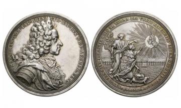 Bavaria, Max. II. Emanuel (1679-1726), Silvermedal, 1715
