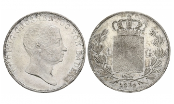 Baden, Ludwig (1818-1830), Gulden, 1824