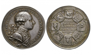 Brandenburg in Franken, Chr. Friedrich Karl Alexander (1757-1791), Silver medal 1769