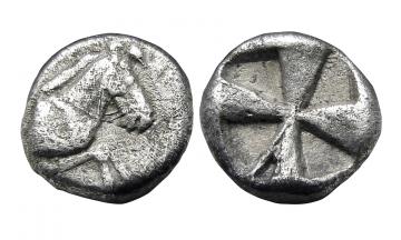 Arkadia, Kleitor, Obol ca. 460-450 BC