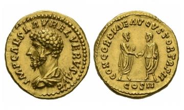 Roman Empire, Lucius Verus (161-169), Aureus 161-162