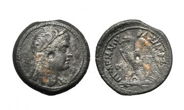 Egypt, Alexandria ca. 180-127 BC, Ptolemy VI Philometor and Cleopatra I, AE 28