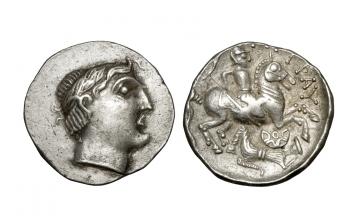 Celts in Eastern Europe, Donau Region, Imitation, Tetradrachm ca. 2nd century BC