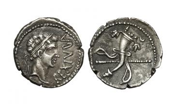 Kingdom of Mauretania, Juba II, Denarius 25 BC - AD 24, Caesarea