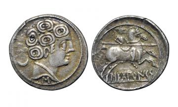 Iberia, Sekobirikes ca. 130 - early 1st century BC, Denarius