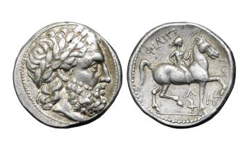 Kings of Macedon, Amphipolis, Philipp II. 359-336 BC, Tetradrachm