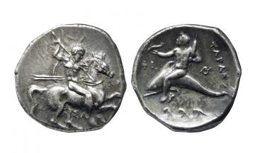 Calabria, Tarentum, Didrachm ca. 290-281 BC